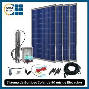 Sistema de Bombeo de Agua Solar de 80 mts de Elevación