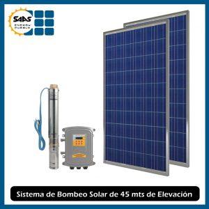 Sistema de Bombeo de Agua Solar de 45 mts de Elevación
