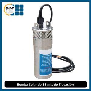 Bomba de Agua Solar de 15 Mts de Elevación Metálica