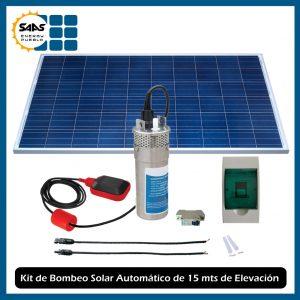 Sistema Automático de Bombeo de Agua Solar de 15 mts Metálico